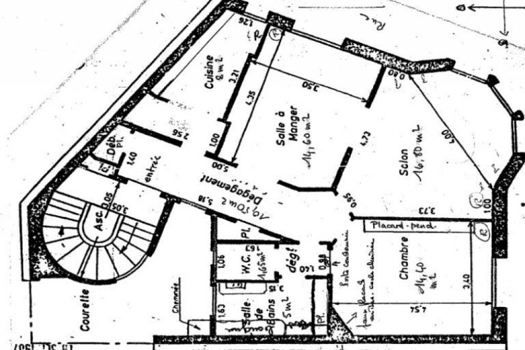 Plan 1 rue du pas de la mule