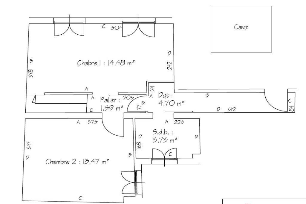 Plan Etage2 Chambres