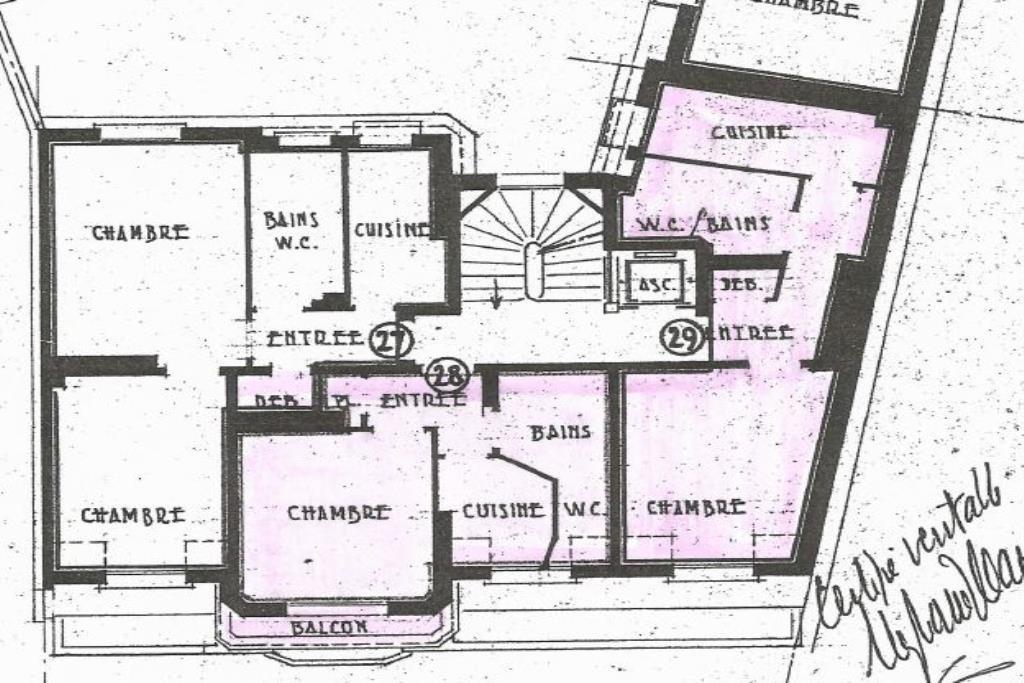 Plan tournelles 6e étage